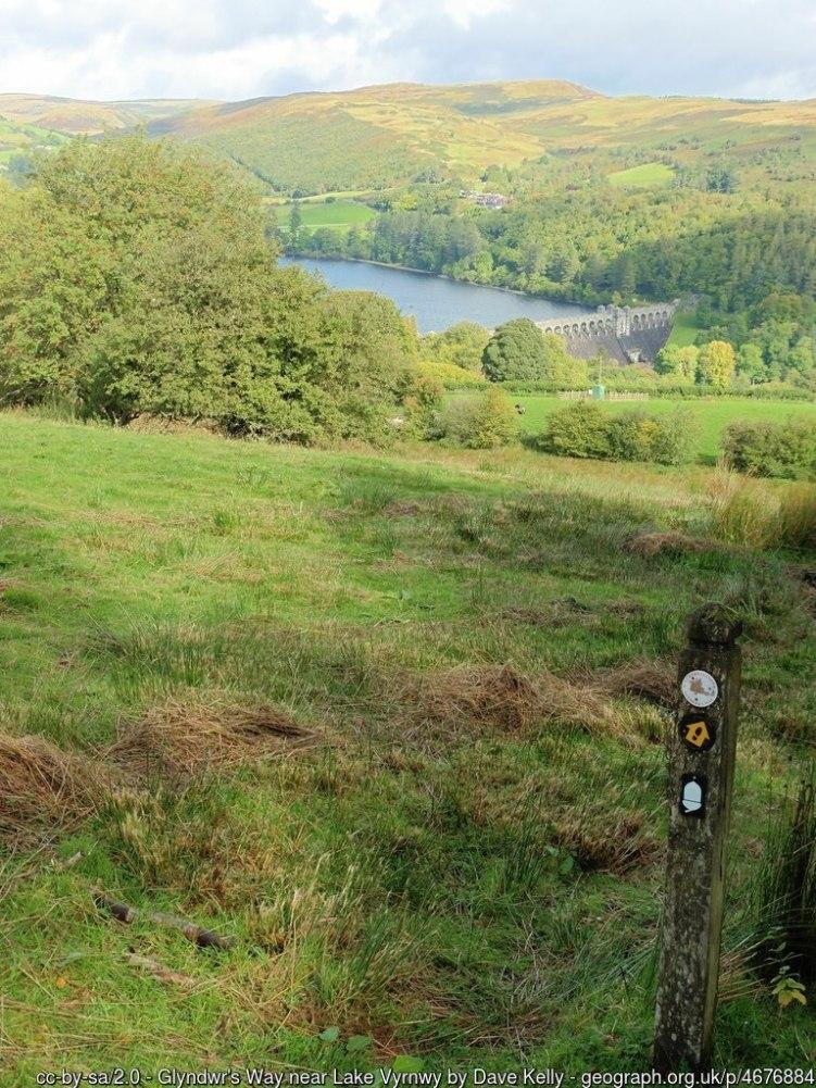 Glyndwr's Way near Lake Vyrnwy