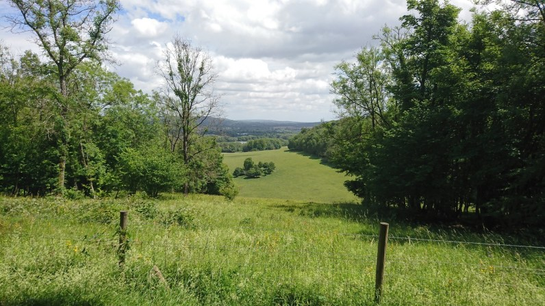 Looking back south-east over The Lake to Bletchingley in the distance.
