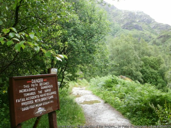 Walk to An Steall Falls via Nevis Gorge from Glen Nevis Upper Falls Car Park