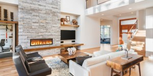 Luxurious Living Room in new home