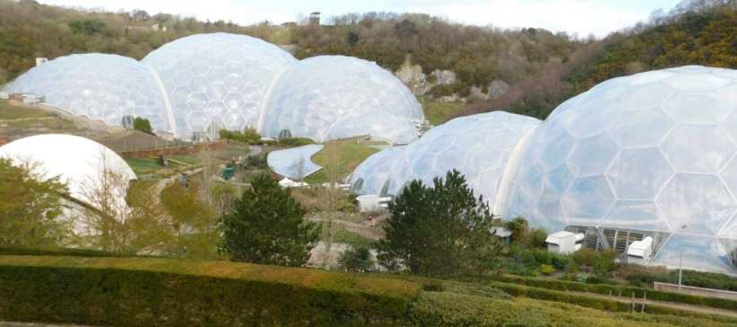 The Eden project's iconic biomes