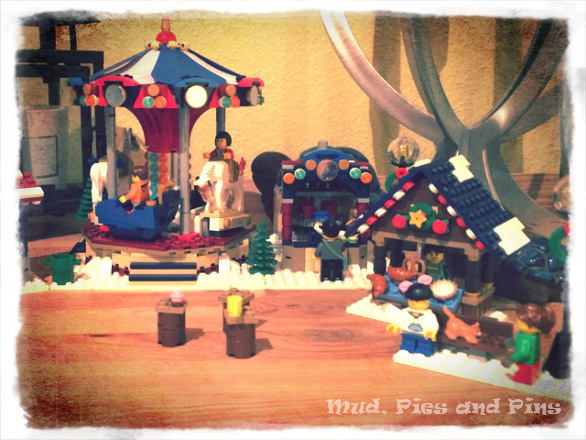 Lego carousel and Christmas market | Mud, Pies and Pins