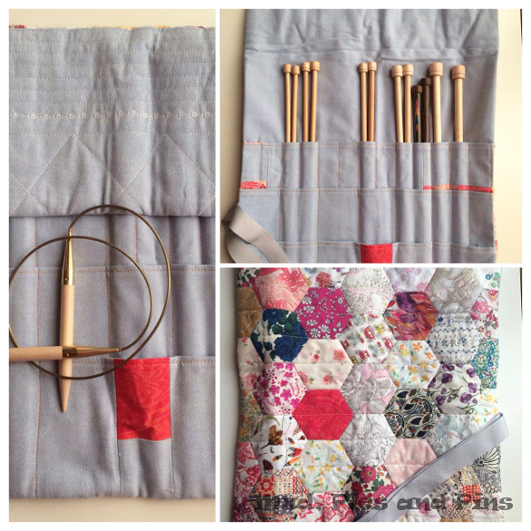 Knitting case collage