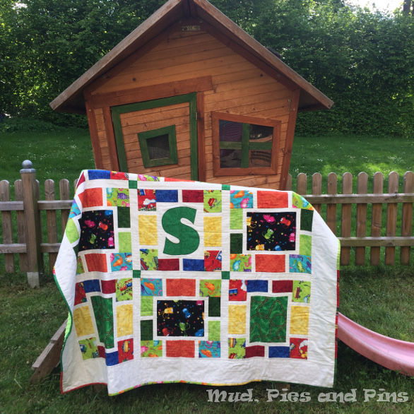 Trains and cats boy's quilt | Mud, Pies and Pins