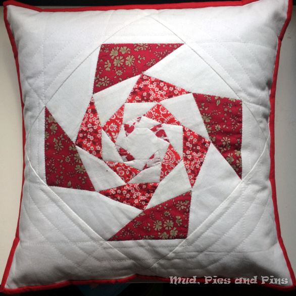 Red Liberty Spinning Lotus Pillow | Mud, Pies and Pins