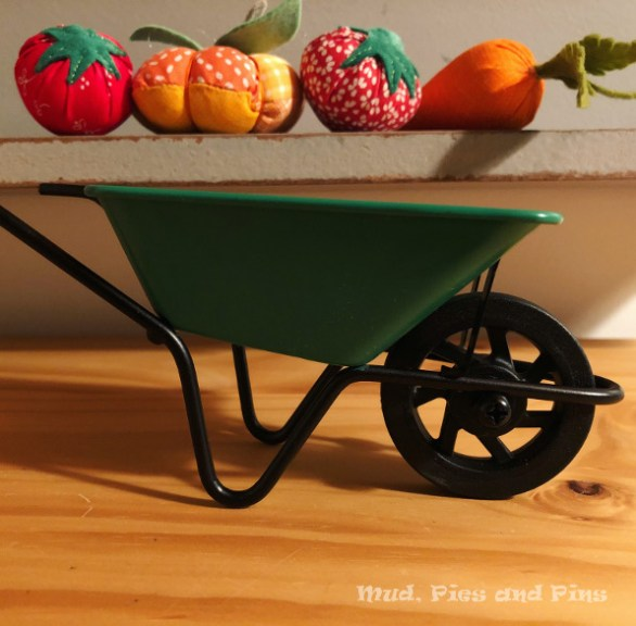Fruit and Veg pincushions and mini wheelbarrow | Mud, Pies and Pins