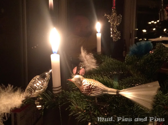 Candles on the Christmas Tree | Mud, Pies and Pins