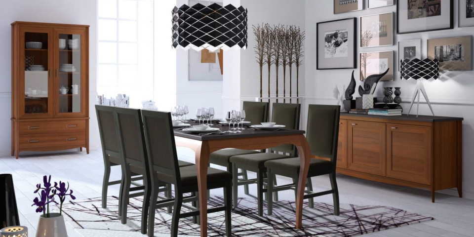 Mesa de comedor y sillas modelo Sapore