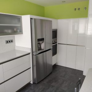 muebles de cocina - laca blanca -gola