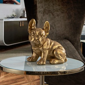 FIGURA DECORATIVA BULL FRANCES ORO