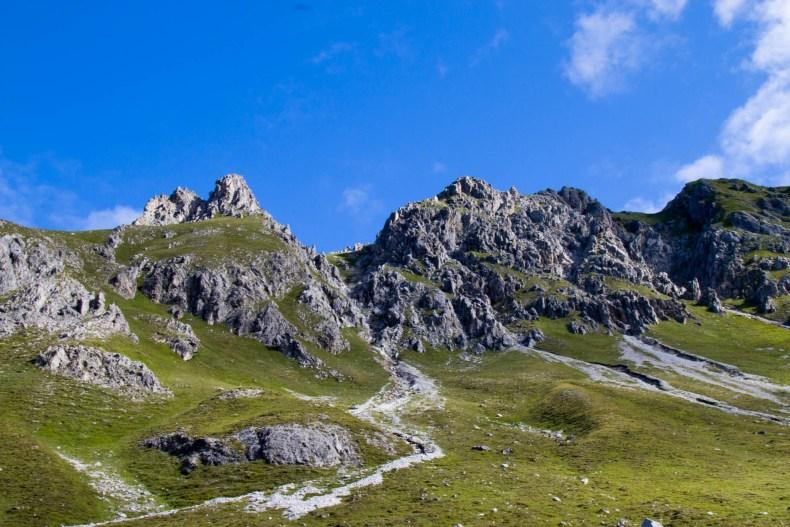 Graubünden, Schweiz, Strelapass, Wandern
