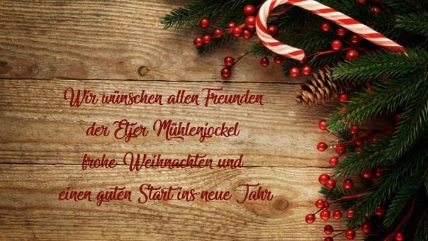 Wir wünschen allen Freunden der Etjer Mühlenjockel Frohe Weihnachten und einen guten Start ins neue Jahr
