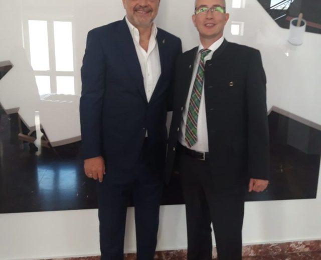 Der albanische Ministerpräsident Edi Rama mit Hansjörg Müller AfD