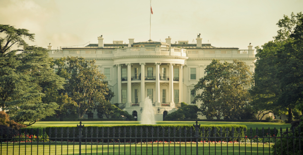 Front view of the White House