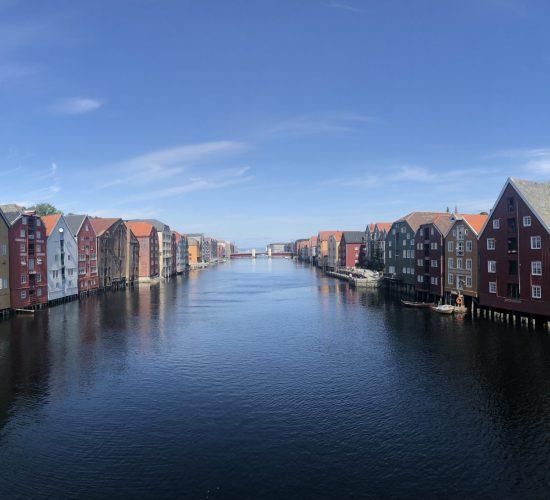 Olavsweg Norwegen Trondheim historischer Hafen