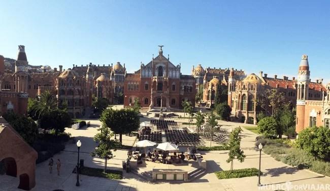 El magnífico hospital de Sant Pau en Barcelona
