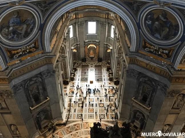 Las maravillosas vistas desde el interior de la cúpula de la Basílica de San Pedro