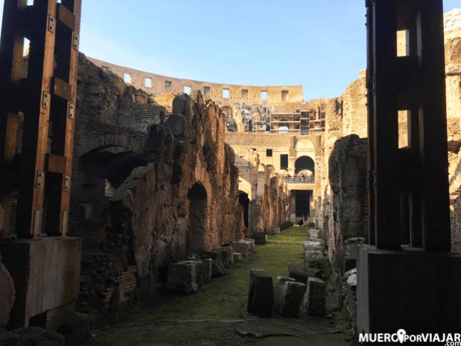 En la visita al Coliseo puedes optar por añadir la parte subterránea y ver como estaba construido