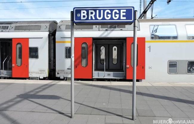 Las estaciones de tren de Bruselas están muy bien señaladas
