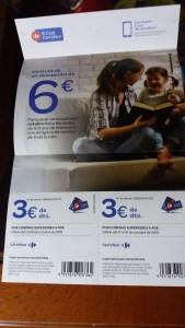 cupón descuento carrefour 6 euros octubre 2018