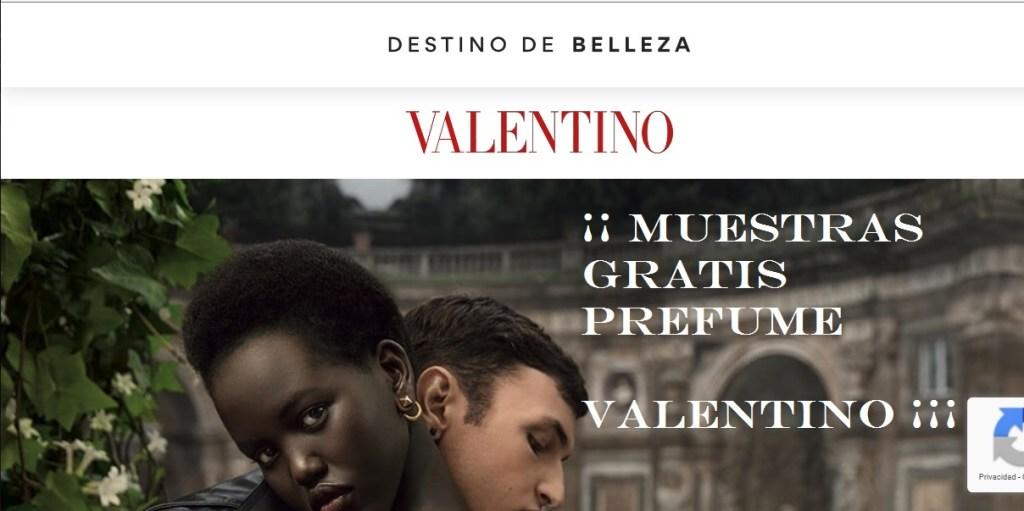 muestras gratis perfume Valentino