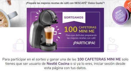 sorteo cafeteras Dolce Gusto