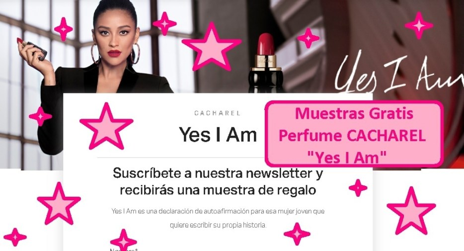 muestras gratis perfume a domicilio CACHAREL Yes I Am