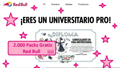 packs gratis red bull