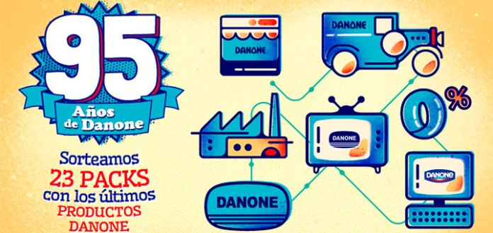 sorteo packs de productos Danone