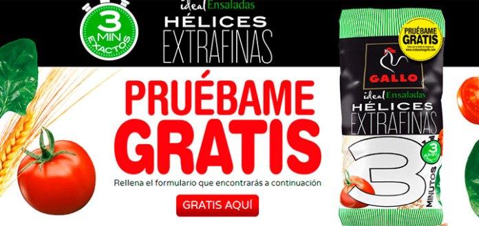 Prueba gratis las Hélices Extrafinas de Gallo