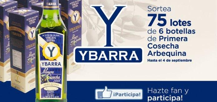 sorteo de 75 lotes de aceite de oliva Ybarra