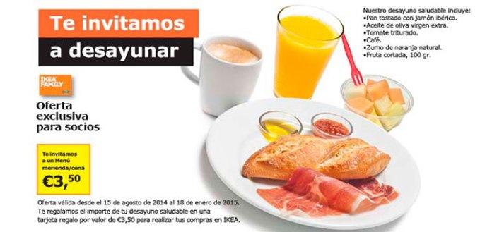 desayuno gratis en Ikea
