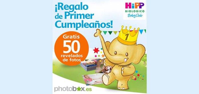 gratis 50 revelados de fotos con HiPP