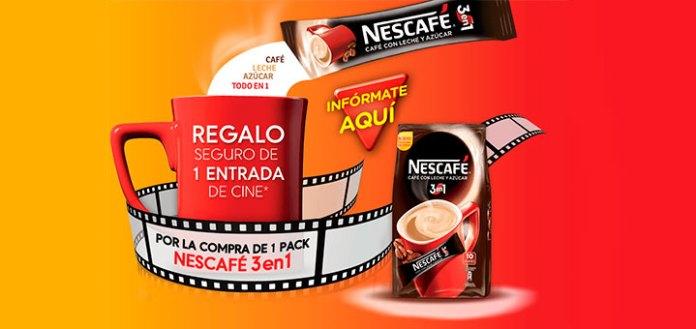 entradas de cine gratis con nescafé 3 en 1