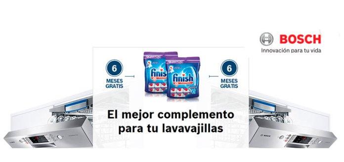 Finish gratis por la compra de un lavavajillas EcoSilence