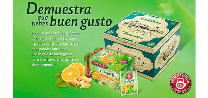 muestras gratis del nuevo té verde Pompadour