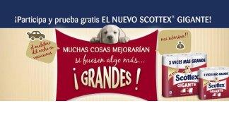 Gana muestras gratis de Scottex Gigante