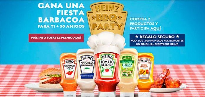 Gana una BBQ party con Heinz