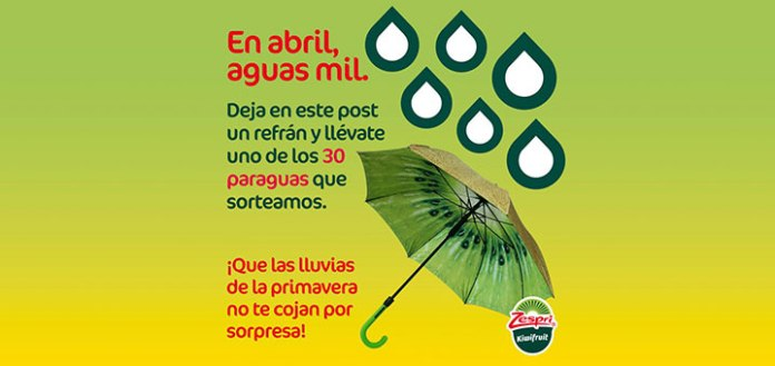 Llévate un paraguas con Zespri