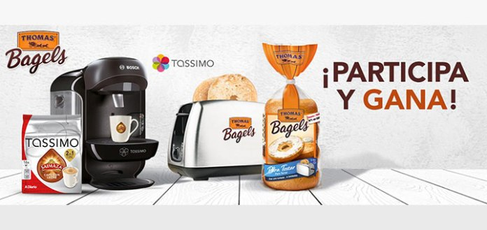 Thomas Bagels regala packs de desayuno