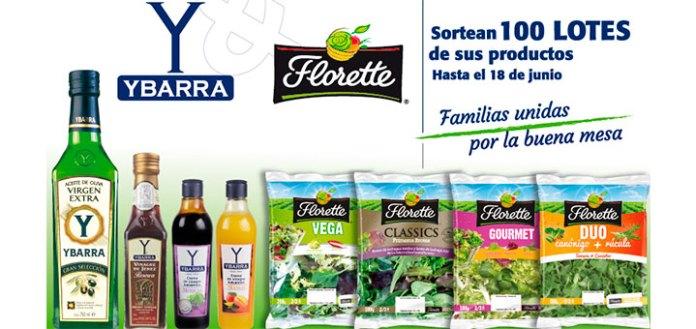 Florette & Ybarra sortean 100 lotes de productos