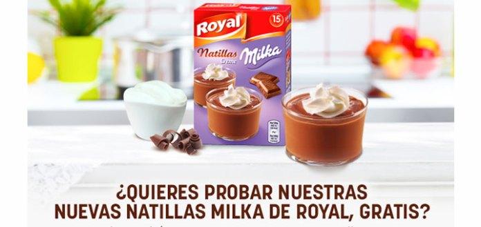 Prueba gratis natillas Milka de Royal