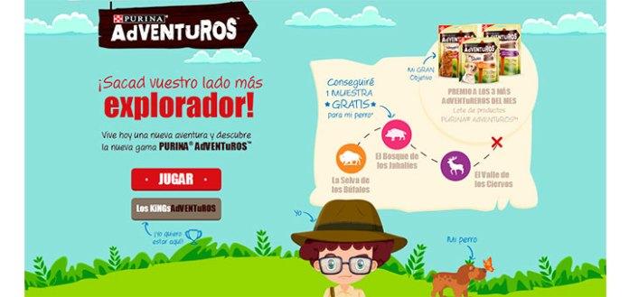 Consigue muestras gratis con Purina Adventuros