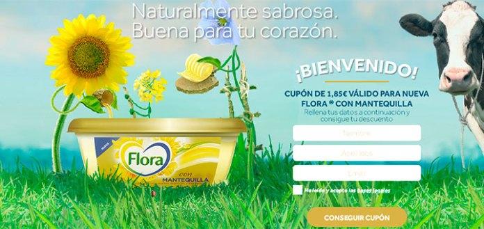 Si te gustaría conseguir un descuento en la nueva Flora con Mantequilla