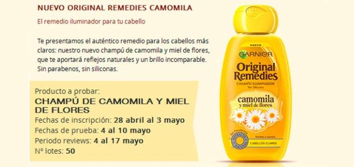 Buscan a 50 probadoras de Original Remedies Camomila