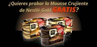 Prueba gratis la Mousse Crujiente de Nestlé Gold