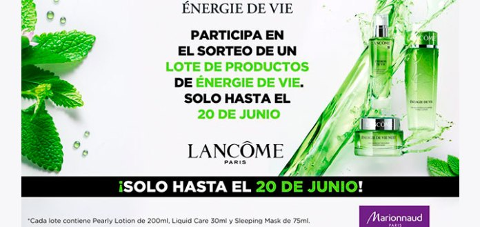 Gana un lote de productos de Énergie de Vie