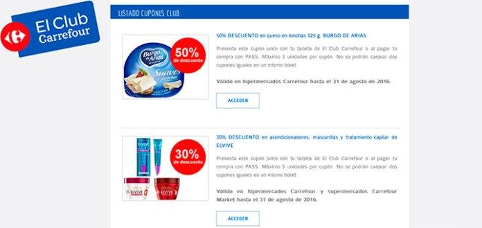 Cupones descuento en Carrefour