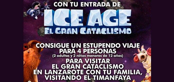 Gana un viaje a Lanzarote con Ice Age