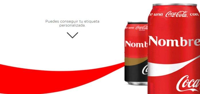 Consigue etiquetas personalizadas Coca Cola